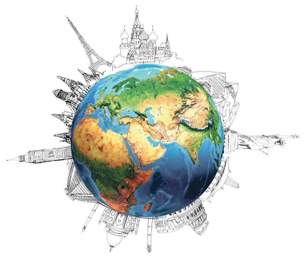bigstock-Earth-planet-on-grey-backgroun-59358125